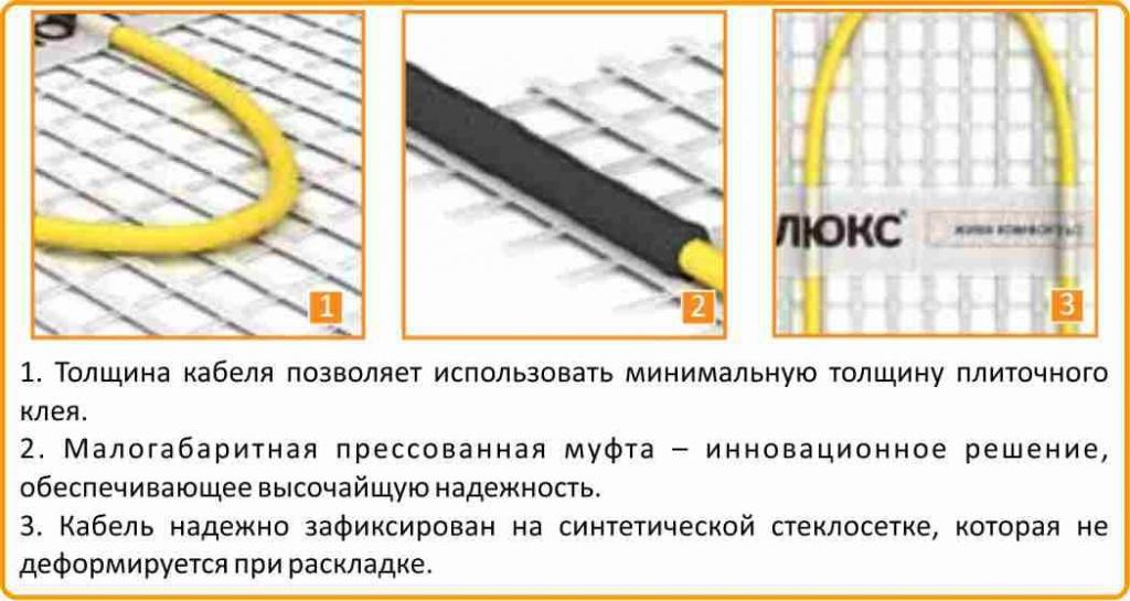 теплый пол электрический под плитку Теплолюкс в Екатеринбурге