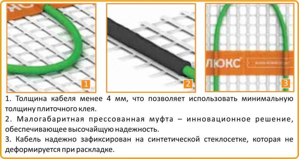 маты Теплолюкс под плитку в Екатеринбурге